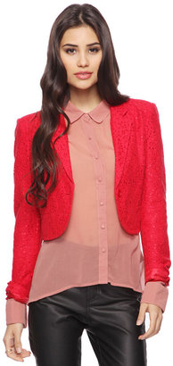 Forever 21 Cropped Lace Jacket