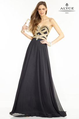 Alyce Paris - 1094 Dress in Black Gold
