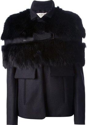 Marni Edition fur paneled jacket