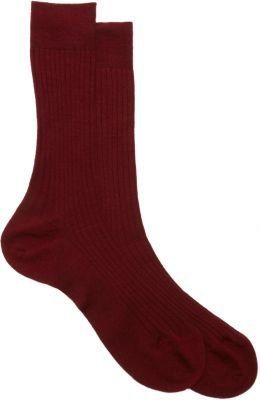 Barneys New York Ribbed Mid-Calf Socks