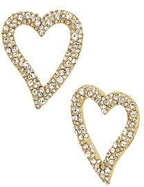 BaubleBar Lyra Pave Heart Earrings