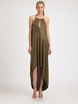 Haute Hippie Hi-Lo Halter Dress