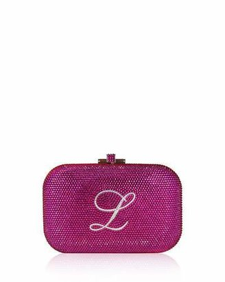 Judith Leiber Couture Monogram Crystal Slide-Lock Clutch Bag, Fuchsia $2,995 thestylecure.com