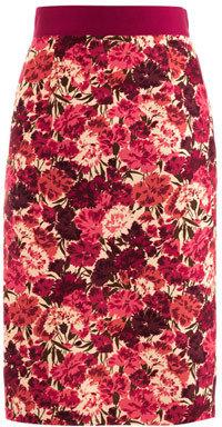 Giambattista Valli COUTURE Carnation-print pencil skirt