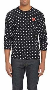 Comme des Garcons Men's Polka Dot Long-Sleeve T-shirt - Black