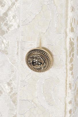 Balmain Cotton-blend lace shirt