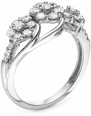 FINE JEWELRY diamond blossom 1 CT. T.W. Diamond 3-blossom Ring