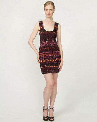 Le Château Aztec Print Knit Tunic Dress