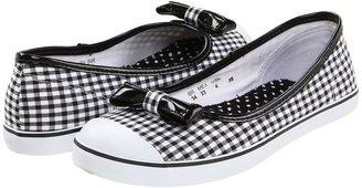 Pampili Like Sapatilha 5 (Toddler/Little Kid/Big Kid) (Black/White) - Footwear