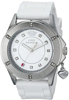 Juicy Couture Women's 1901195 Rich Girl Analog Display Quartz White Watch $95 thestylecure.com