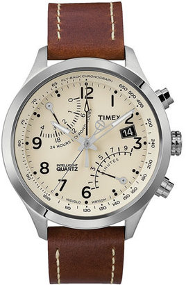 Timex ® 'Intelligent Quartz' Fly-Back Chronograph Watch, 43mm $165 thestylecure.com