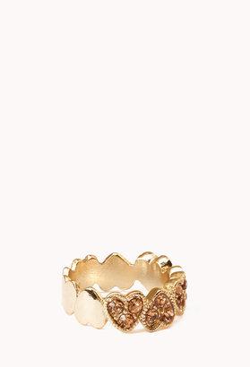 Forever 21 Rhinestoned Heart Ring