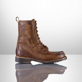 Ralph Lauren Kingweston Oiled-Suede Boot