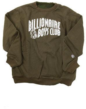 Billionaire Boys Club BBC Reversible Sweatshirt in Army Green