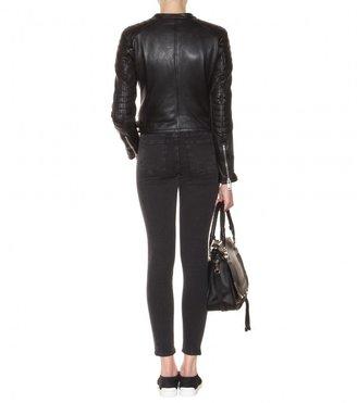 Burberry Kirtslane leather jacket