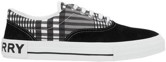 Burberry Check And Suede Sneakers