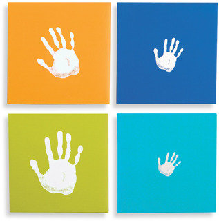 Pearhead Pearhead™ Handprint Wall Art Set (Set of 4) - Blue
