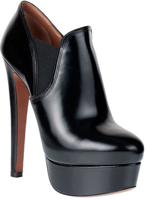 Alaia Calf leather platform ankle boot