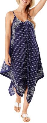 Tommy Bahama Island Scarves Asymmetric Hem Scarf Dress