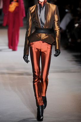 Haider Ackermann High-waisted wool and silk-blend skinny pants