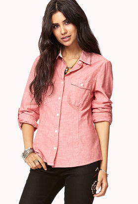 LOVE21 LOVE 21 Essential Button Down