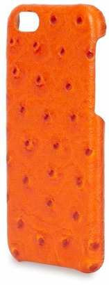 The Case Orange Ostrich Effect Leather IPhone 6 Case