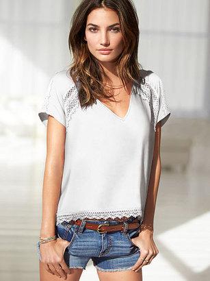 Victoria's Secret Crochet V-neck Top