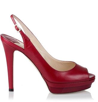 Jimmy Choo Vertigo red platform sandal