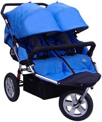 Tike Tech CityX3 Swivel Double Stroller - Pacific Blue