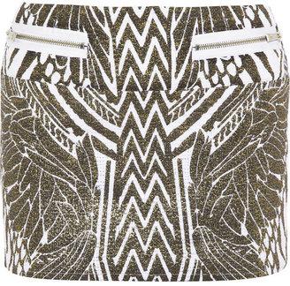 Just Cavalli Printed tweed mini skirt