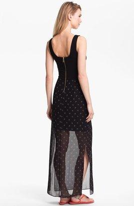 Vince Camuto Mixed Media Maxi Dress