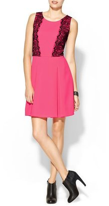 Collective Concepts Pink Lace Detail Dress