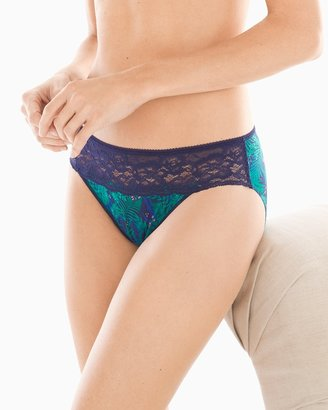 Soma Intimates Microfiber with Lace Hipster
