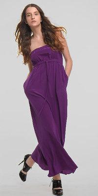 Kara Janx Eggplant India Maxi Dresses