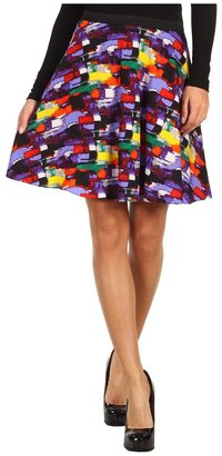 Catherine Malandrino Printed Silk Flare Skirt (Colorama Print) - Apparel