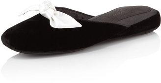 Patricia Green Glam Velvet Slipper, Black
