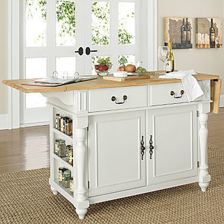JCPenney Drop-Leaf Kitchen Island with Butcher's Block Top