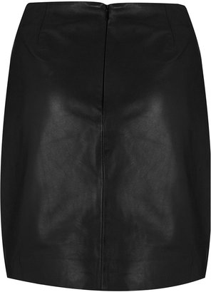 Topshop Leather Skirt By Boutique