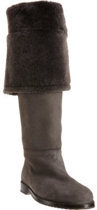 Henry Cuir Shearling Cuff Knee Boot