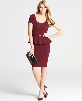 Ann Taylor Tall Serendipity Peplum Dress