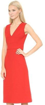 Victoria Beckham Victoria Deep V Midi Dress