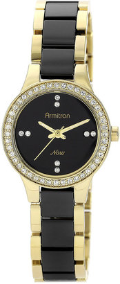 Armitron Now Womens Crystal-Accent Ceramic Link Bracelet Watch $90 thestylecure.com