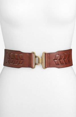Fossil Laced Stretch Belt