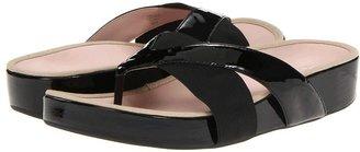 Taryn Rose Argyle (Black Patent Leather) - Footwear