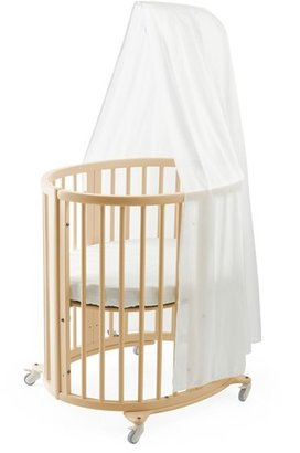 Infant Stokke Sleepi Mini Crib, Drape Rod & Mattress Bundle $599 thestylecure.com