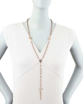 Pamela Love Rosebud Dagger Rosary Necklace