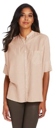 Steven Alan Women's Oversized Stand-Collar Shirt