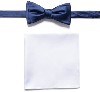 Apt. 9 Men's Solid Pre-Tied Bow Tie & Pocket Square