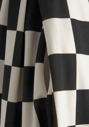 Room and Checkerboard Dress