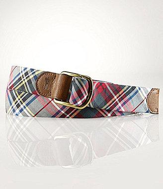 Polo Ralph Lauren Madras D-Ring Belt
